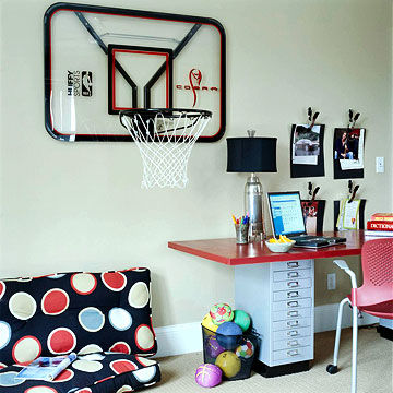 Cute rooms for boys for Basketball hoop for kids room