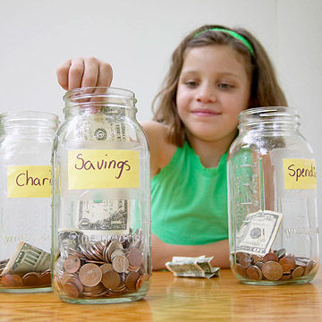 charity saving and spending