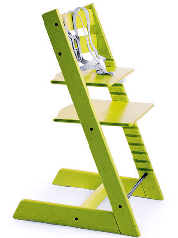 Green chair that grows with your child