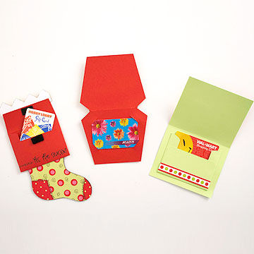 Gift card holiday cards