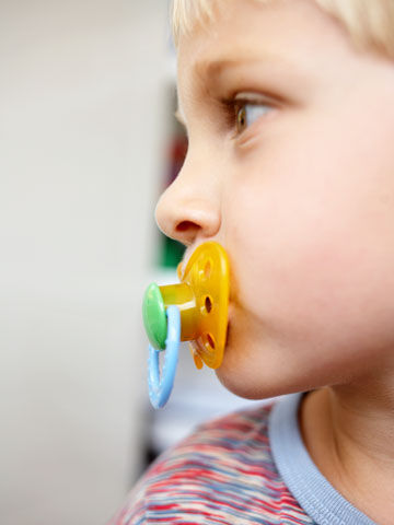 Preschooler with pacifier