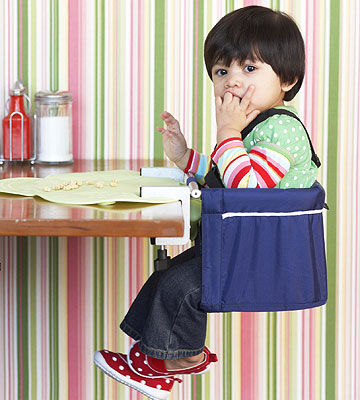 Me Too! Portable High Chair and Kiddopotamus TinyDiner Portable Placemat