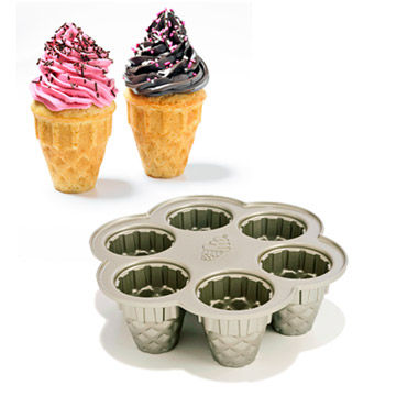 cone cakes and pan