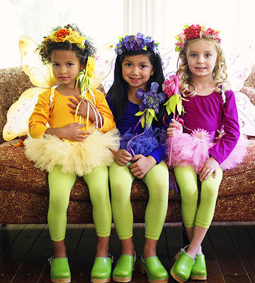 flower fairies - Halloween Costumes Three Girls