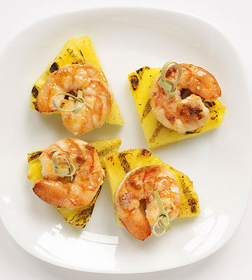 Grilled Pineapple and Shrimp