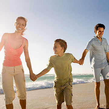 happy family at beach