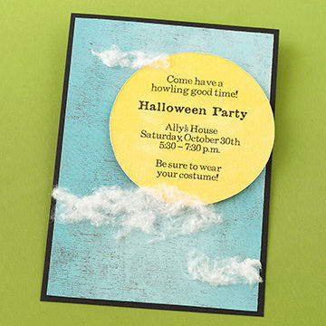 moon invite - Homemade Halloween Party Invitations
