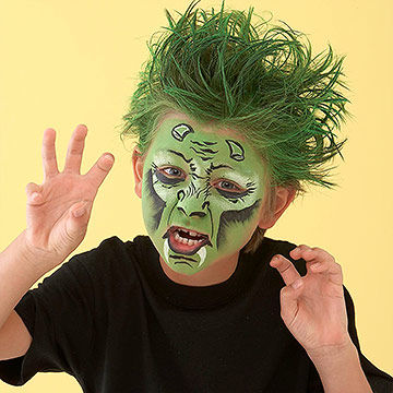 monster face painting - Halloween Easy Face Painting