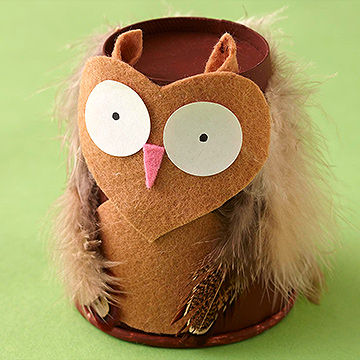 Paper Cup Owl