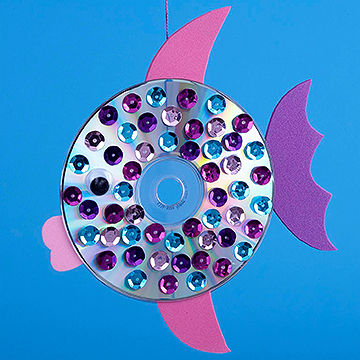 Sequined CD Fish