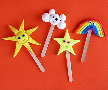 Clay crafts kids will love for Art and craft for toddlers