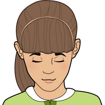 How to Cut Bangs Straight Across