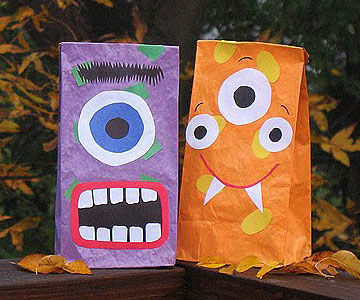 Halloween Bags 3 diy halloween treat bags video crafts for kids pbs parents pbs Monster Bags