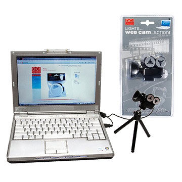 Computer video camera with stand