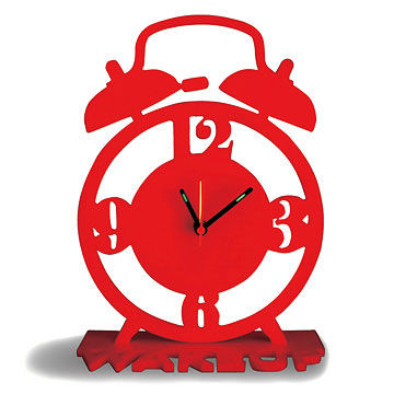 Red acrylic clock