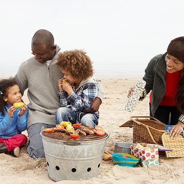 family picnic at the beach