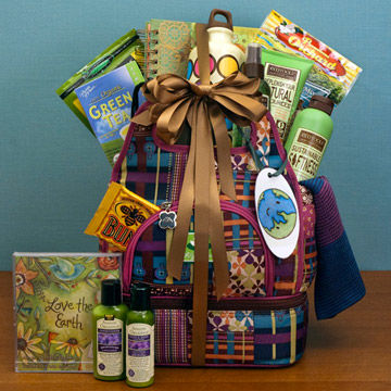 Gift basket for eco-chic mom