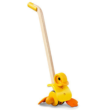 Ducky wooden pull toy
