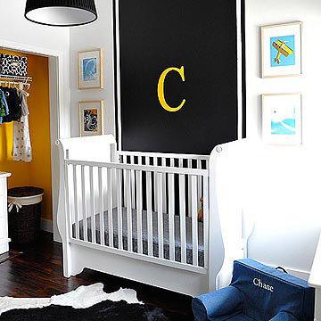 Melisa and Josh Fluhr's Black and White Nursery for Baby Chase