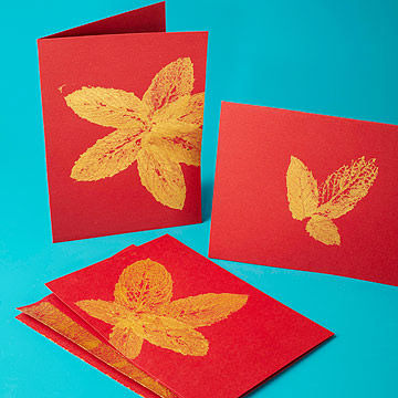 Gold Leaf Cards