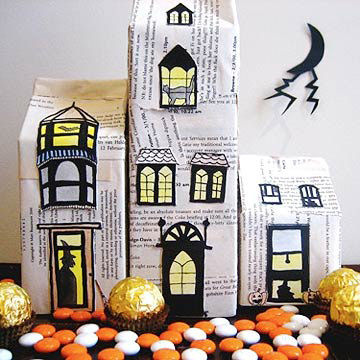 decorate your house with cool creepy halloween crafts - Recycled Halloween Decorations