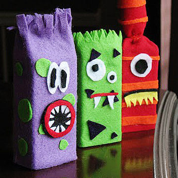 juice box monsters - Milk Carton Halloween Ghosts