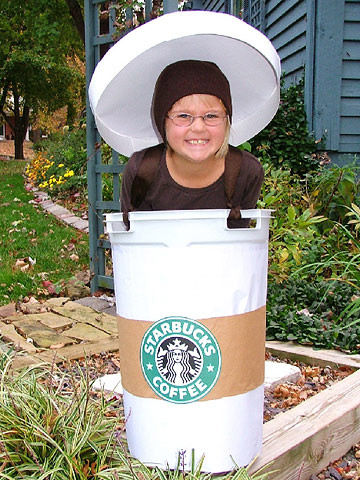 coffee cup - Homemade Halloween Costume Ideas For Boys