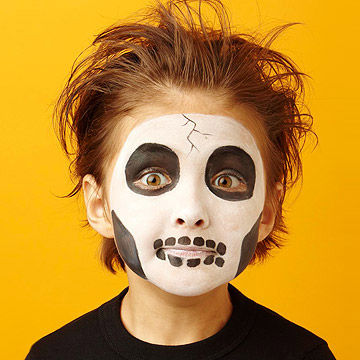 skeleton face painting - Halloween Facepaint
