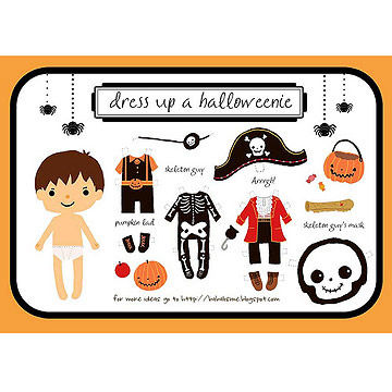 dress up halloweenie - Halloween Decorations Printable