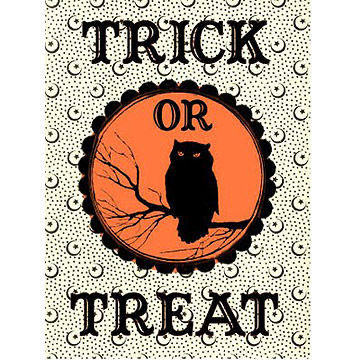 trick or treat bag label - Halloween Decorations Printable