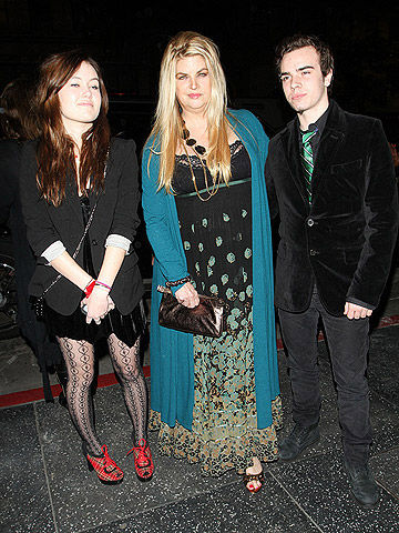 Kirstie Alley with her daughter Lillie and son William