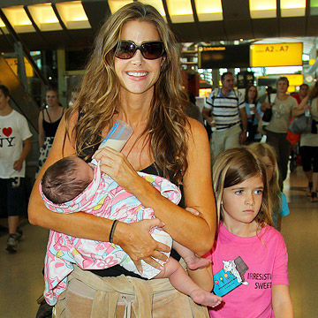 Denise Richards with daughters