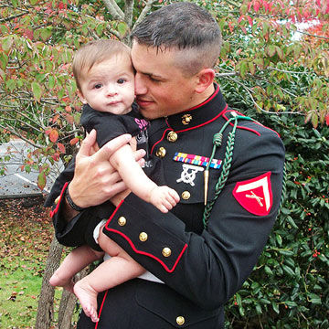 Cpl. Kyle Foster with daughter Rylie