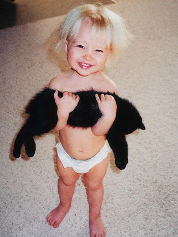 Cutest Kid And Pet Winner, Abby holding Boo