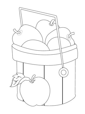 thanksgiving kid printables apple basket coloring pages