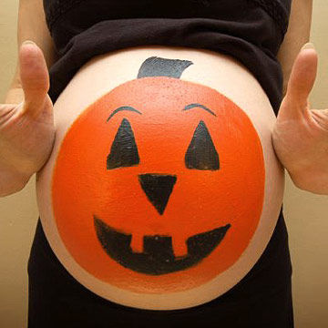 Jack o Lantern Belly and Hands