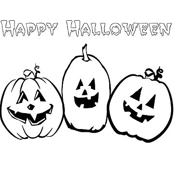 Fun free halloween coloring pages for Happy halloween coloring pages printable