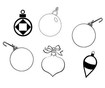 christmas ornaments coloring pages - Coloring Pages Christmas Ornaments