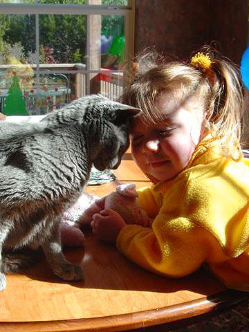 Cutest Kid And Pet Winner, Daphne and Delphi