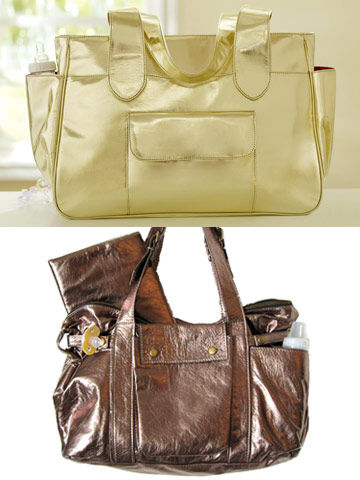 Amy Coe gold Holiday Diaper Bag	and Not Rational Hansel Bronze Diaper Bag