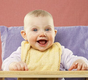 baby in highchair