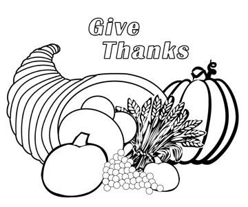 cornucopia coloring pages - Free Thanksgiving Coloring Sheets