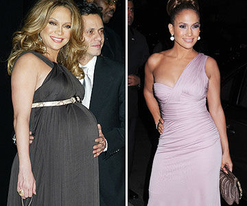 Jennifer Lopez before and after pregnancy