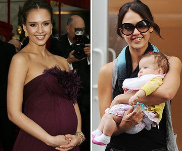 Jessica Alba before and after pregnancy