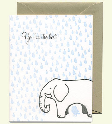 You're the Best elephant card