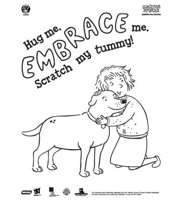 martha speaks coloring pages - photo#4