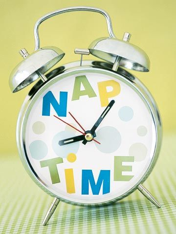 Nap time clock