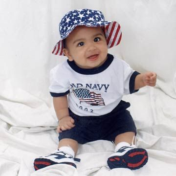 Baby In Old Navy Flag Attire