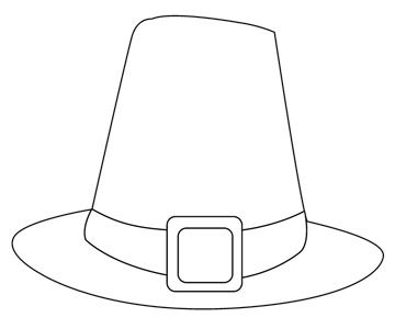Sweet image within printable pilgrim hat