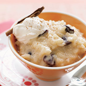 Sour Cherry Rice Pudding